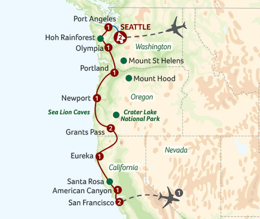 Oregon and the Pacific Coast from Seattle to San Francisco | Travel ...