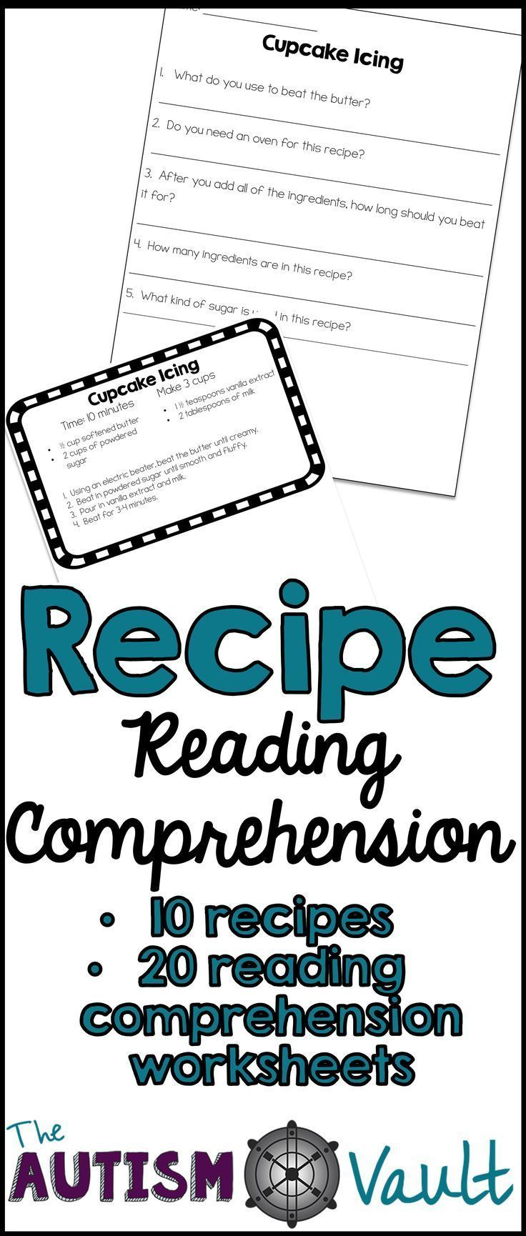Worksheets Vocational Skills Worksheets recipe reading comprehension life skills and functional literacy worksheets c