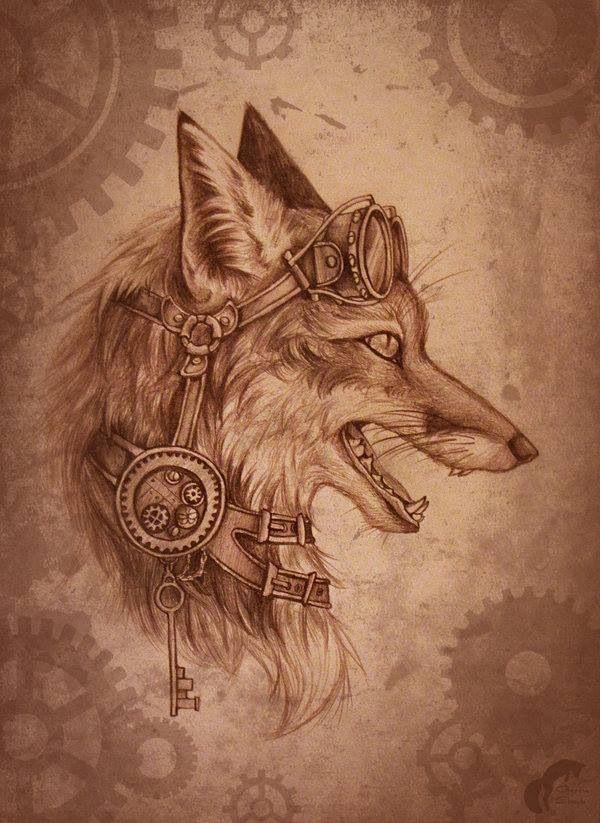 Steampunk Fox | Steampunk art, Steampunk animals ...