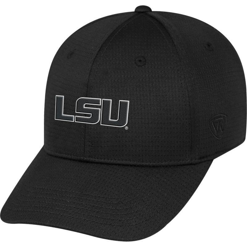 Top of the World Men s LSU Tigers Parallax Black 1Fit Flex Hat ... 67d17f044a64