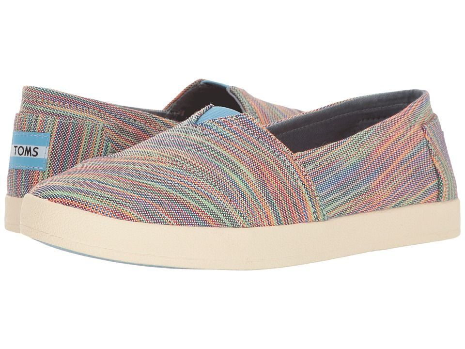 4850952f852 TOMS TOMS - AVALON SLIP-ON (BLUE ASTER MULTI SPACE DYE) WOMEN'S SLIP ON  SHOES. #toms #shoes #