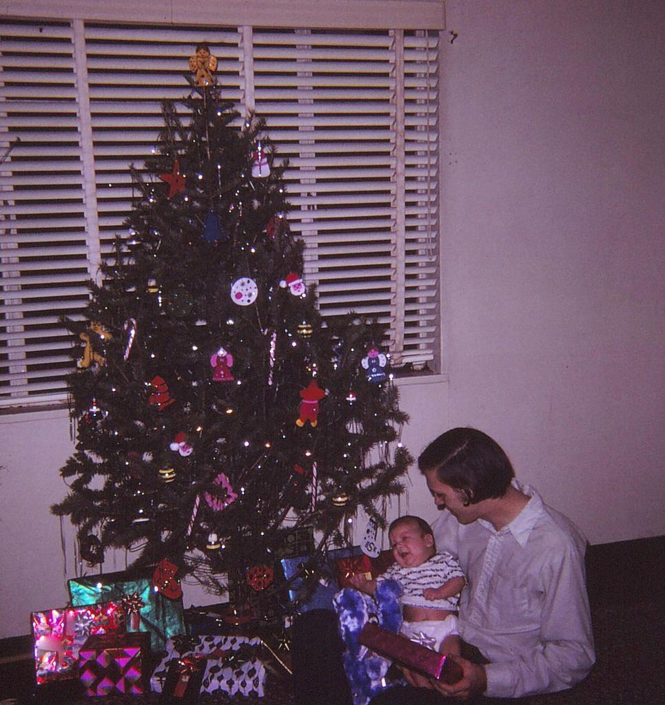 Vintage christmas trees and putzes 1910 - Christmas 1971
