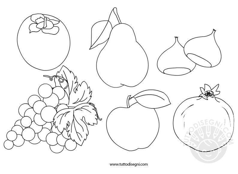 Risultati Immagini Per Schede Da Colorare Frutta Secca D Autunno