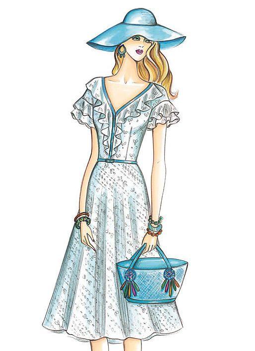 F3926 | McCall\'s Patterns | dibujos de moda | Pinterest