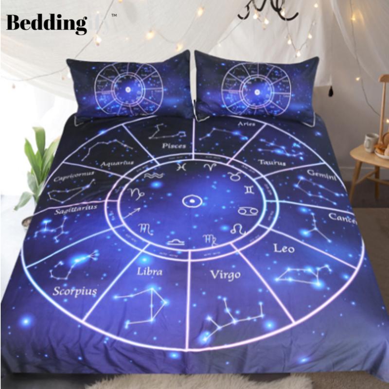 Twelve Constellations Bedding Set Bedding Sets Constellation Bedding Duvet Cover Sets