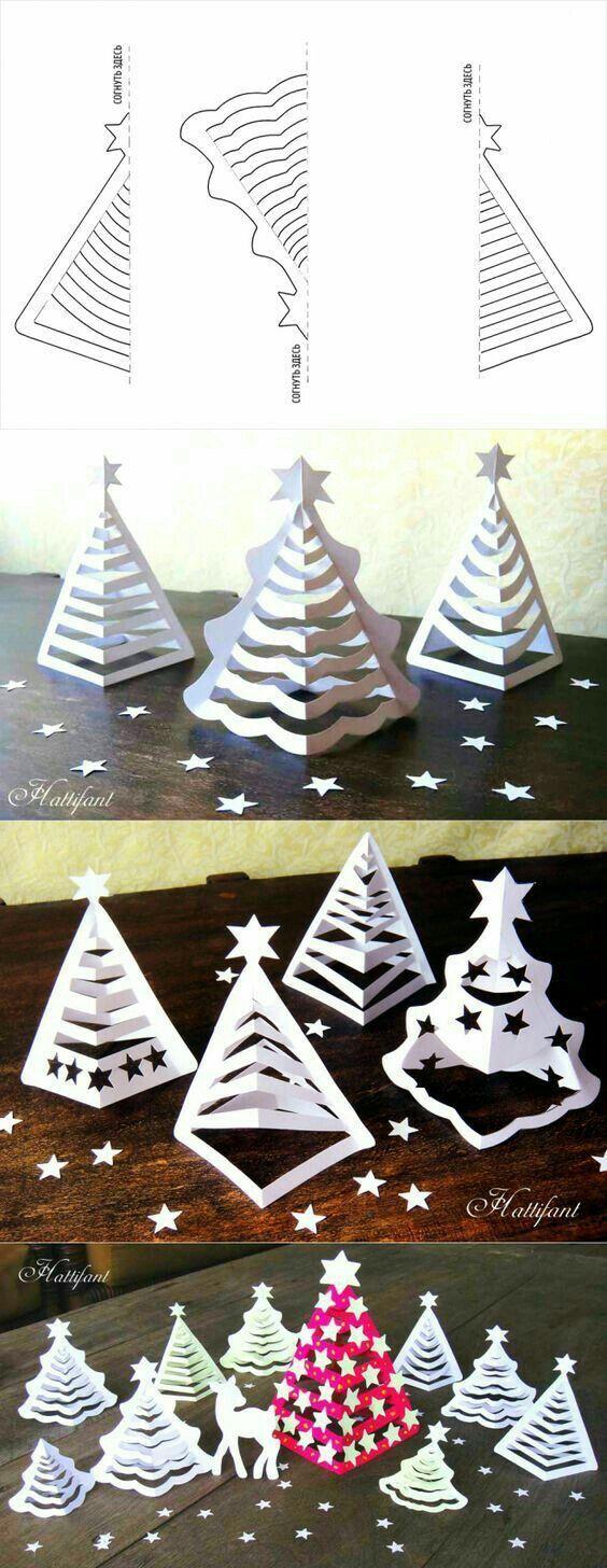 Weihnachtsbaumdekorationen gemacht vom Papierschnitt - Dekoration Selber Machen #dekoration
