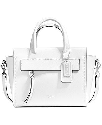 ebf02f3877 COACH BLEECKER MINI RILEY CARRYALL IN SAFFIANO LEATHER - Coach Handbags -  Handbags   Accessories - Macy s