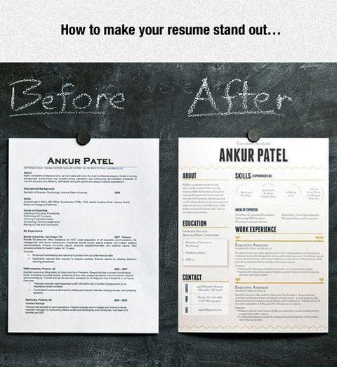 Make your resume stand out Adulting, Business and Life hacks - stand out resume examples