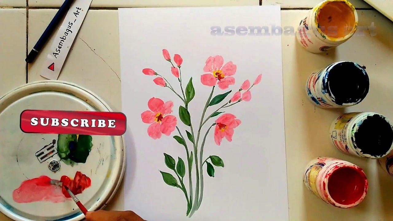 Cara Melukis Bunga Yang Gampang Mudah Dan Menarik Lukisan Bunga Cara Melukis Lukisan