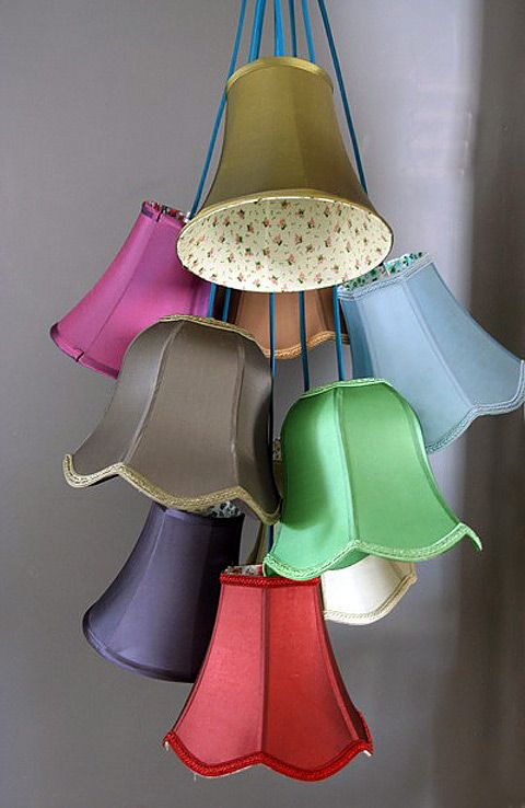 Colorful Lampshade Cluster Light Colorful Lamp Shades Cluster Lights Lamp Shades