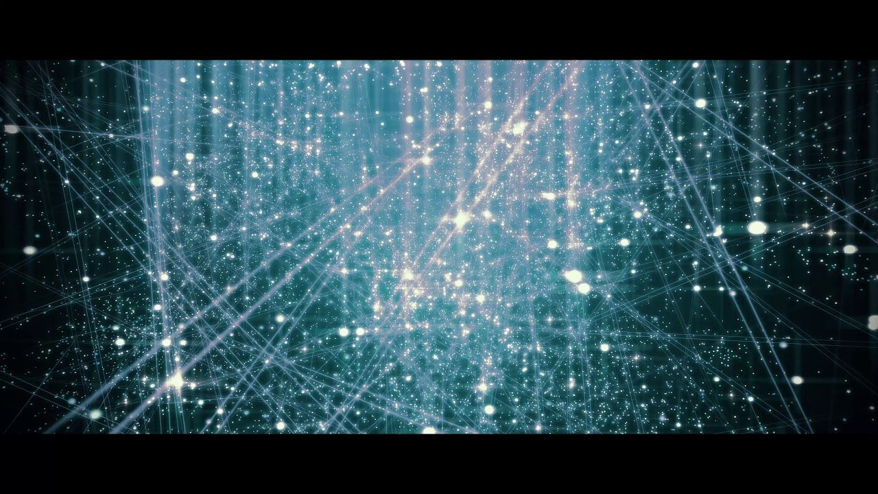 4K Cinematic Space Moving Background Cyan Strips Galaxy