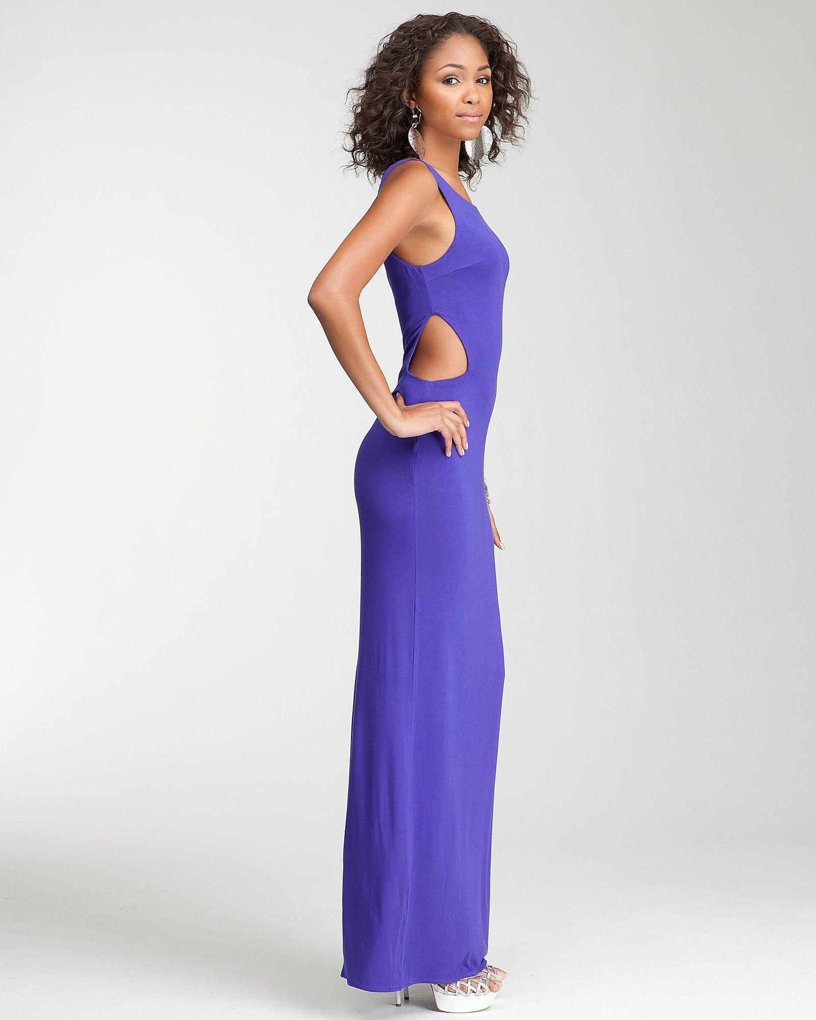 Bebe sleeveless side cutout maxi dress wanderlust pinterest