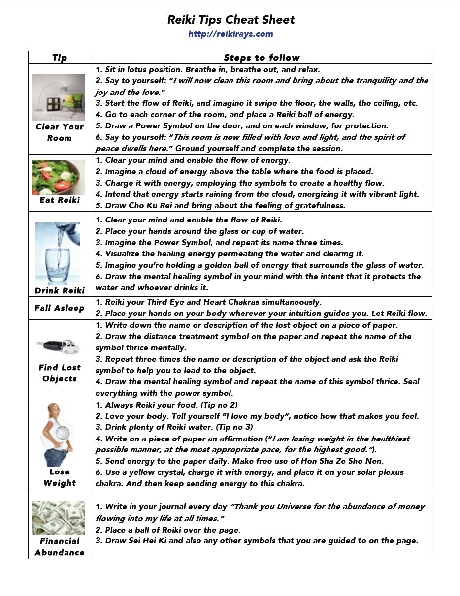 Infographic reiki tips chakras yoga and holistic healing reiki tips cheat sheet buycottarizona