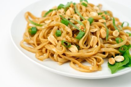 Thai noodles for only 200 calories a serving.  Yummmmmm....