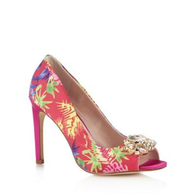 Faith Dark pink tropical high court shoes- at Debenhams.com