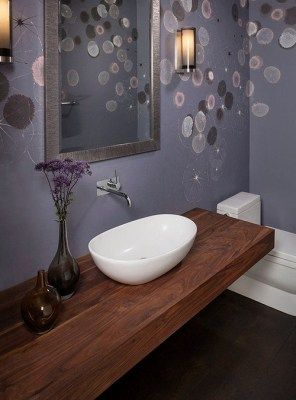 Top In Legno Mensola Da Bagno Per Lavabo 180x55x7 In The Bathroom