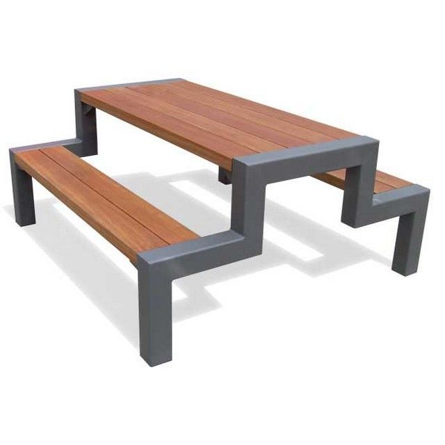 Metal Picnic Table Frames | Metal picnic tables, Welded ...