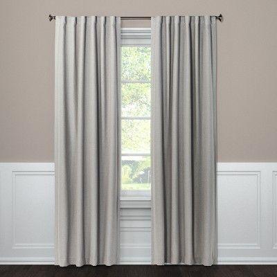 50 X95 Aruba Linen Blackout Curtain Panel Gray Threshold