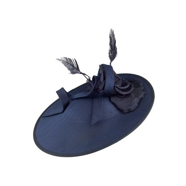 Failsworth Hats Alba Silk Disc Fascinator Navy (2 010 UAH) ❤ liked on  Polyvore featuring accessories 52473cd445e