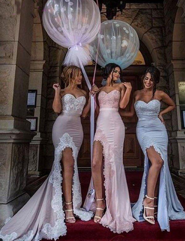 Sexy bridesmaid dress