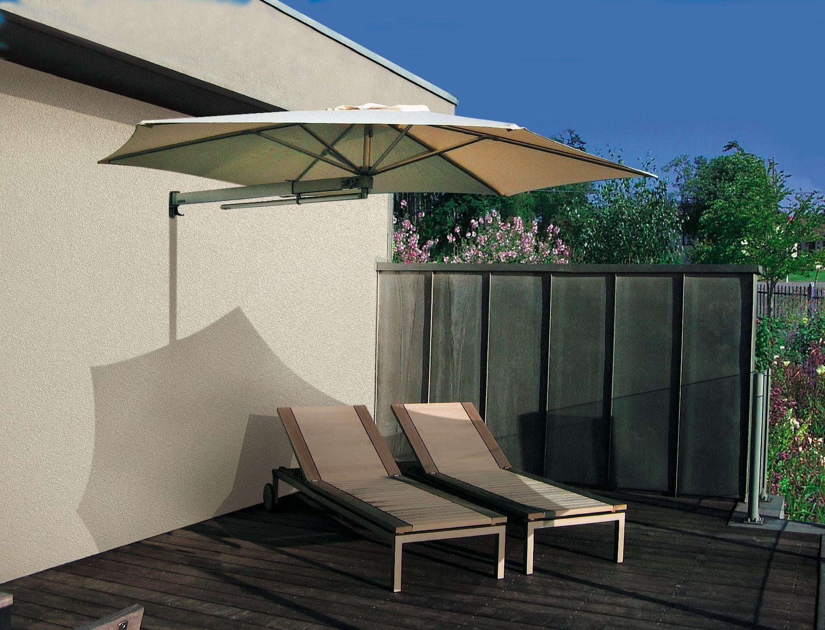 Wall Mounted Patio Umbrella Gartenschirme Terassenideen Sonnenschirm Terrasse