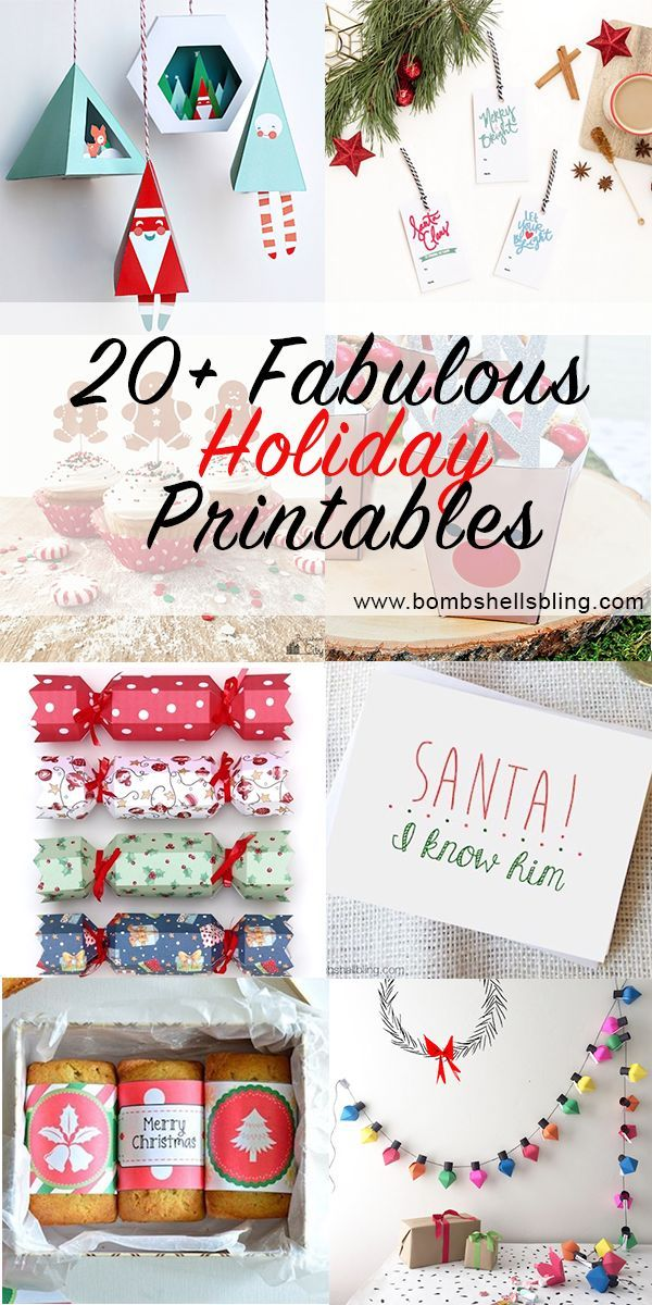 cad4ea344 20 Fabulous and Festive Printables for the Holidays ...