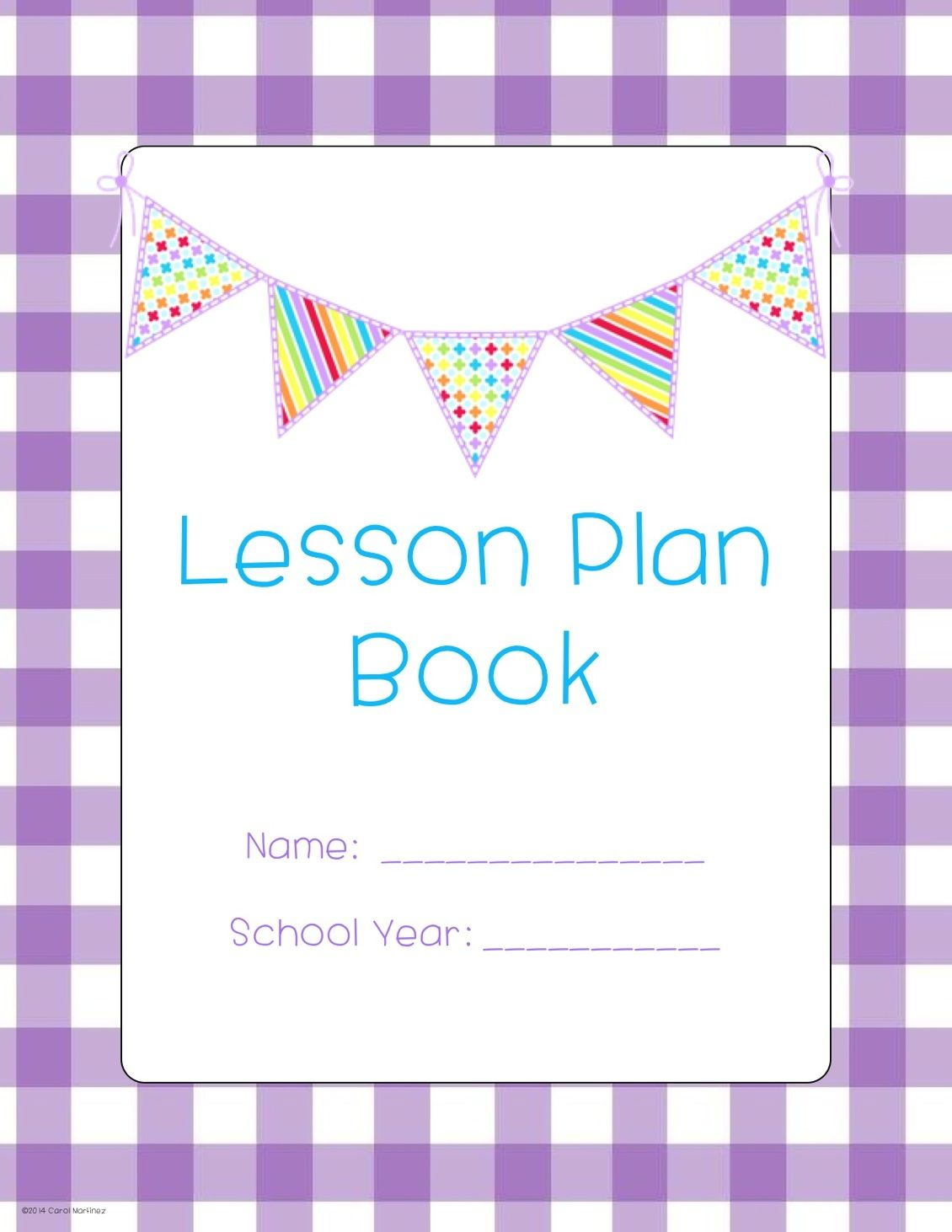 Lesson Plan Templates  More Purple Gingham With Pendants
