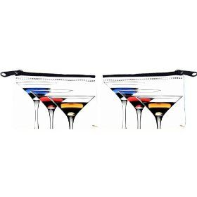 Rikki Knight Martini Glasses Design Scuba Foam Coin Purse Wallet - unisex - Affordable gift for all occassions