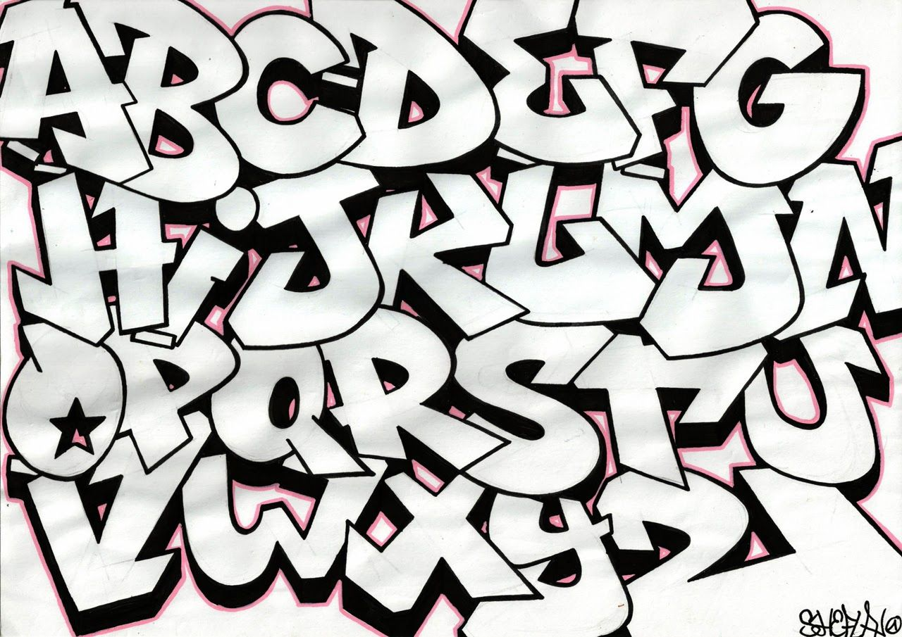 graffiti alphabet bubble letters | random in 2018 | pinterest