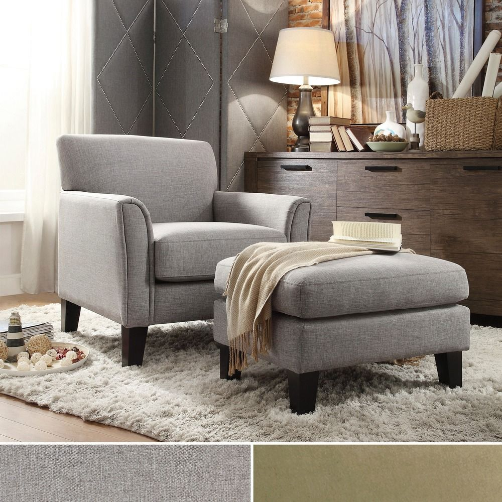Best Uptown Modern Accent Chair And Ottoman By Inspire Q 640 x 480