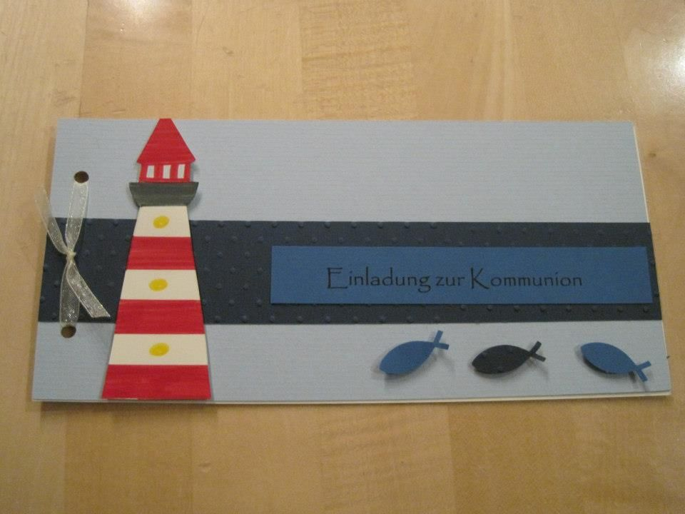 Kommunion thema leuchtturm kommunion pinterest for Leuchtturm basteln