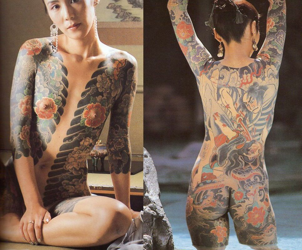 tattooed whole body women nude