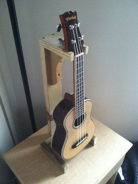 ukulele stand uke related diy ukulele stand ukulele guitar. Black Bedroom Furniture Sets. Home Design Ideas