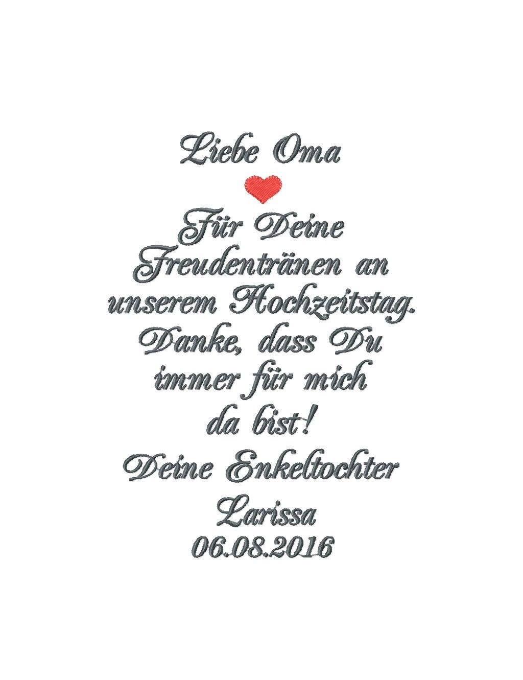 Besticktes Taschentuch Oma Oder Opa Der Braut Mazunikate Taschentucher Braut Meine Hochzeit