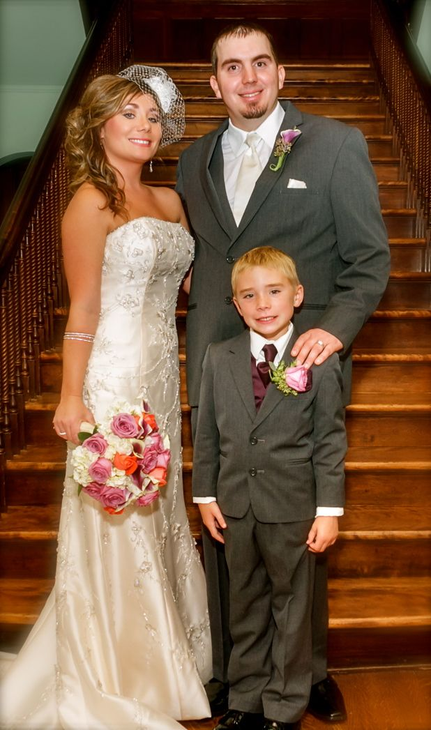 off white wedding dress, champagne wedding dress, grooms white tie ...