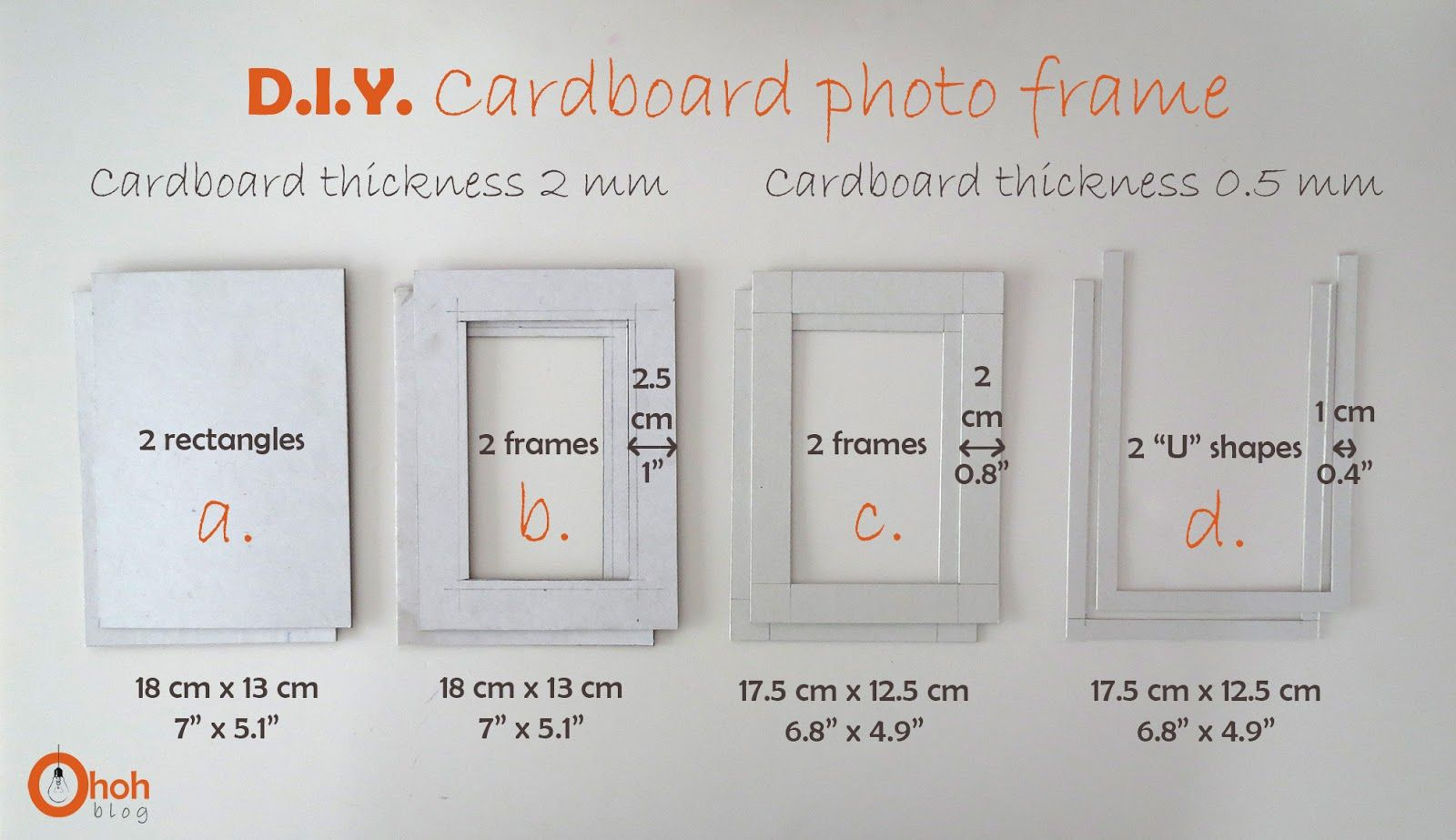 DIY Cardboard photo frame | Diy cardboard, Craft and Cardboard ...