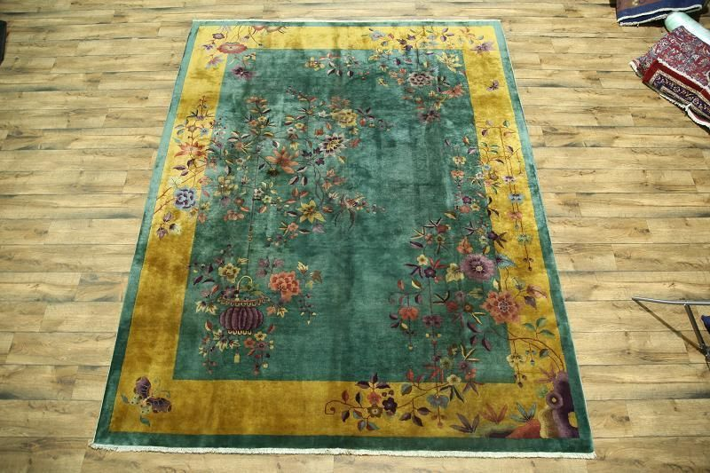 Dining Room Rectangle Floral 100% Wool Area Rugs | EBay