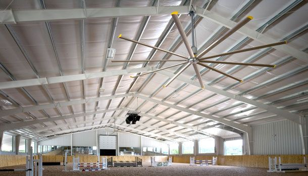 Large Ceiling Fans for Stables, Riding Arenas & Horse