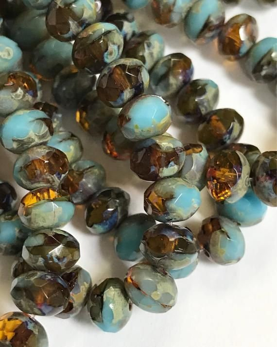 """4x2mm Turquoise Heishi Rondelle Beads 16/"""" Orchid Purple"""