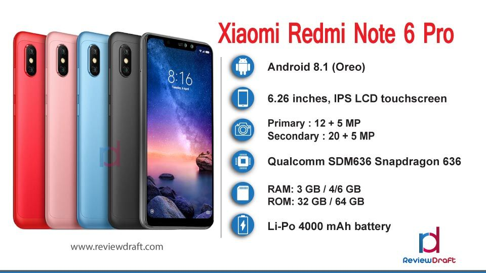 Xiaomi Redmi Note 6 Pro Price In Bangladesh Specification Review Draft Xiaomi Premium Smartphone Mobile News