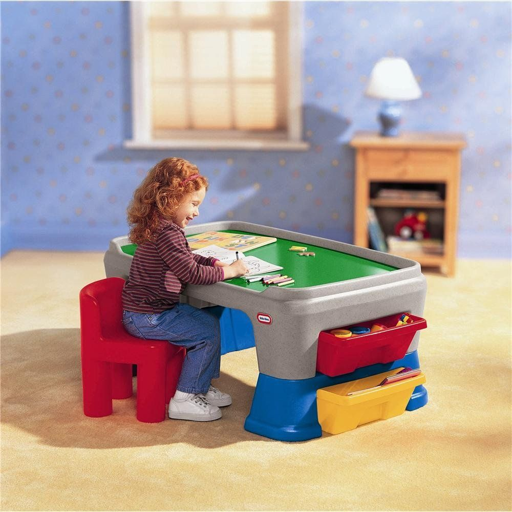Little Tikes Easy Adjust Play Table | Toddler Art Desk With ...