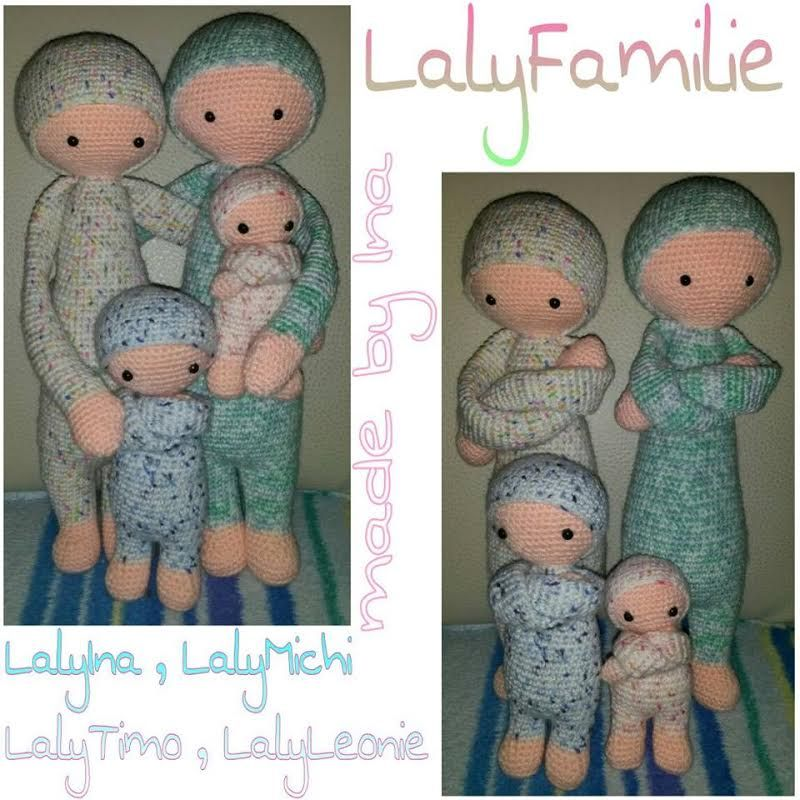 lalylala family made by Ina K. / based on a lalylala crochet pattern ...