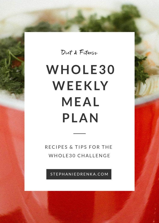 January Whole30: Weekly Meal Plan | Stephanie Drenka