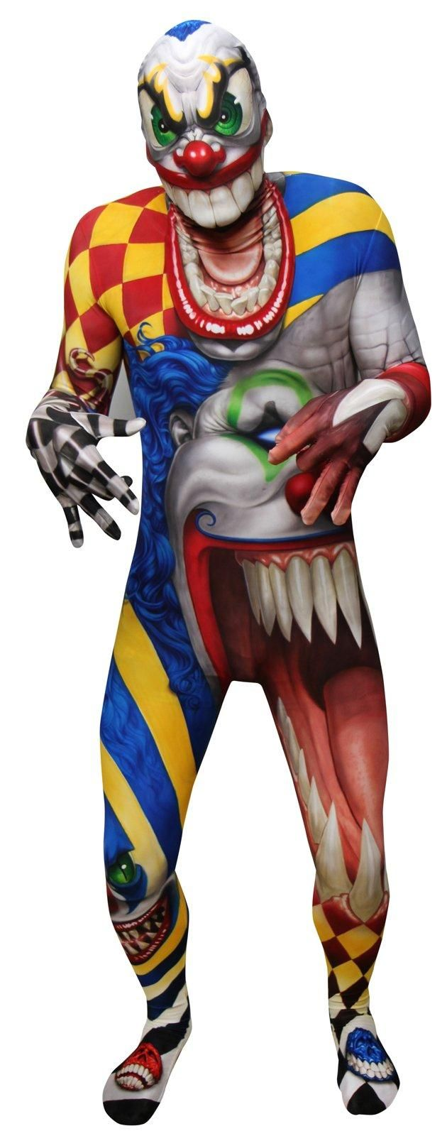 monster collection adult creepy clown morphsuit halloween costumes - Morphsuits Halloween Costumes