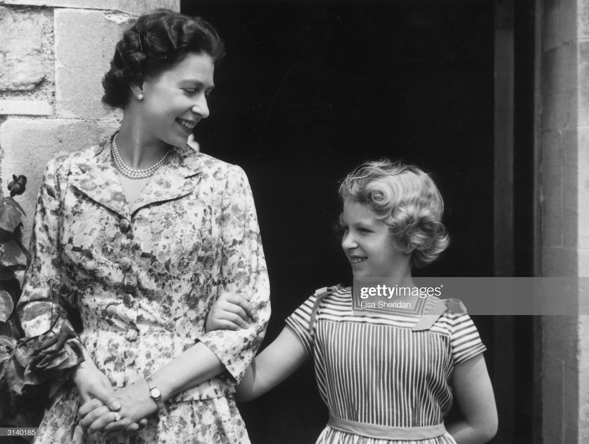 Queen Elizabeth II with her only daughter and second child