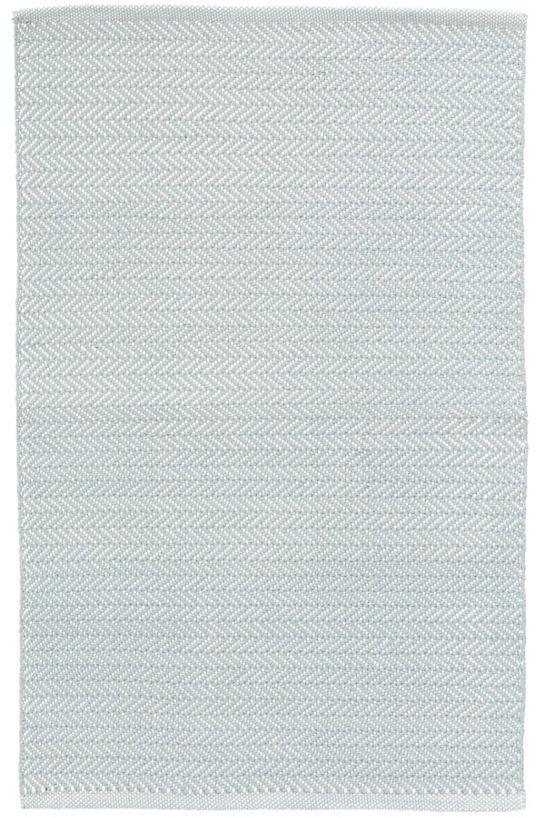Herringbone Light Blue/Ivory Indoor/Outdoor Rug | Indoor outdoor ...