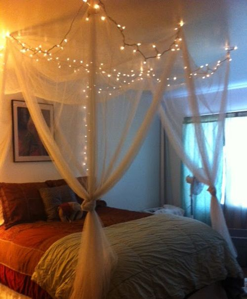 How to Hang Christmas Lights in Bedroom by Homearena & How to Hang Christmas Lights in Bedroom by Homearena | Bedrooms ...