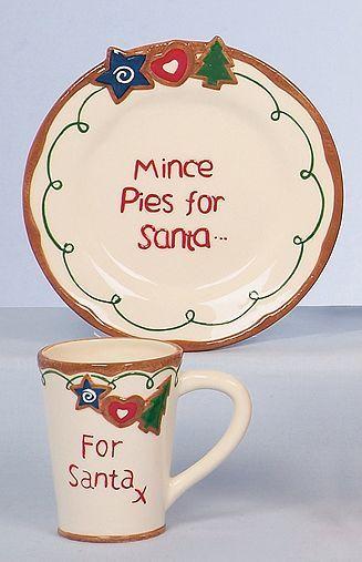 Tesco Direct For Santa Plate And Mug Gift Set Mugs Santa Plate Tesco