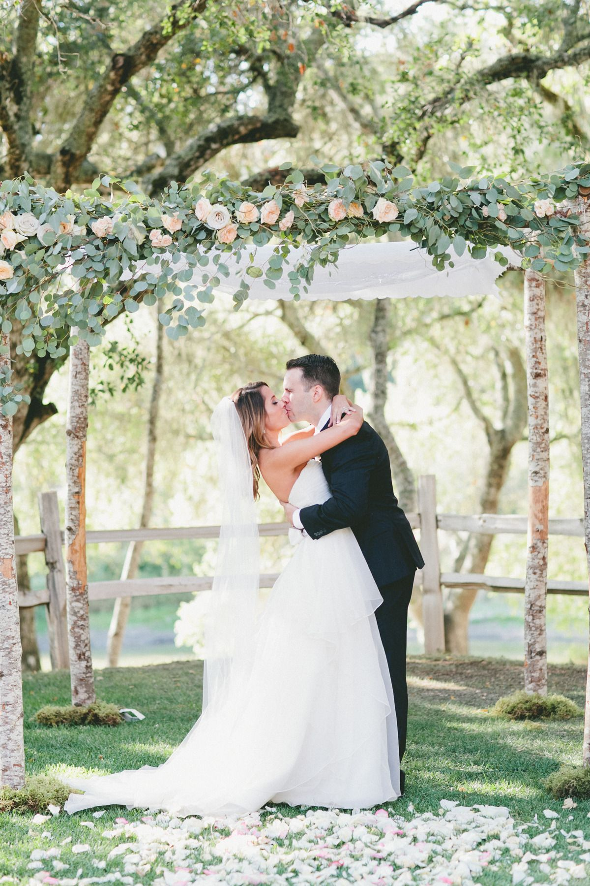 wedding locations north california%0A This Rustic Italian Olive Branch Winery Wedding from onelove photography  and The Little Branch features peach and pink garden roses and proteas
