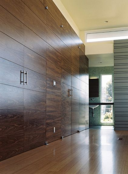 Modern Closet By Schwartz And Architecture The Slab Door Top And